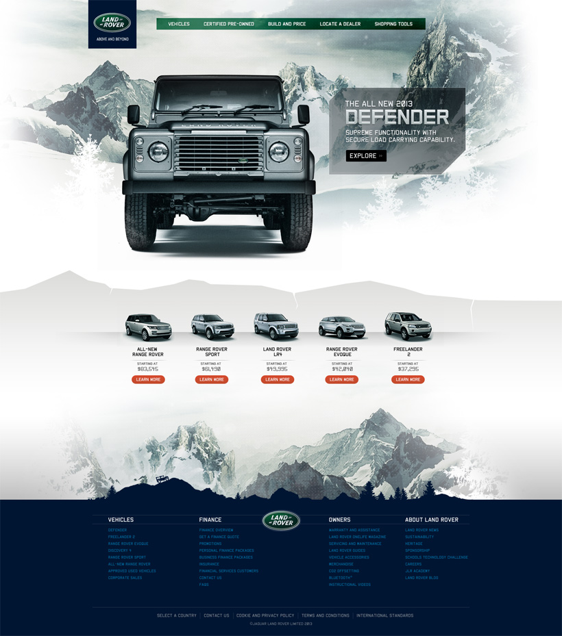 Www Land Rover: Web Portfolio - Land Rover Defender