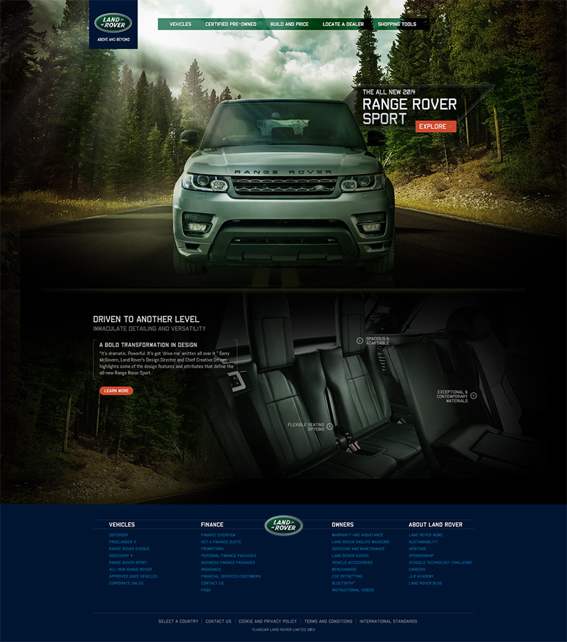 Www Land Rover: Web Portfolio - 2014 Range Rover Sport